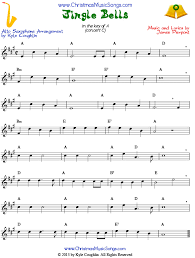 jingle bells for alto saxophone free sheet music
