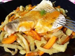 cuisiner lieu noir recette paléo poisson au fenouil carottes sauce agrumes