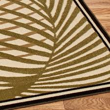 Square Outdoor Rug Palm Areca Indoor Outdoor Tropical Rugs