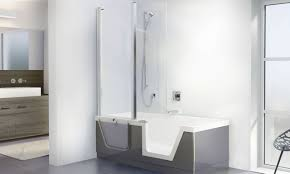Small Bathtub Size Shower Awesome Walk In Shower Tub Combo Modern Small Bathtubs