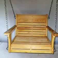 Chair Swing Cypress Wood Chair Swing Larger Chair Swing Wood Tree Swings