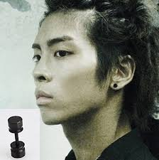 mens ear piercings mens ear piercing black studs basement wall studs