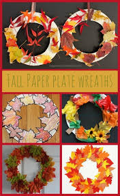 paper plate autumn fall leaf wreaths autumn activities paper