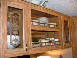 How To Make Old Wood Cabinets Look New Home Decor Diy Update Your Kitchen With Fabric Cabinet Door