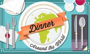 dineability dinner around the world infographic