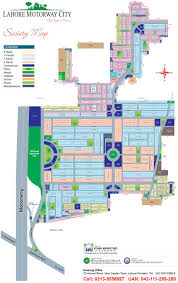 lahore motorway city master plan map u2013 detail layout drawing