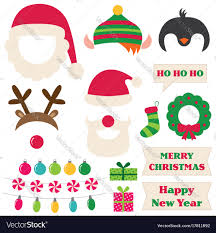 photo booth props christmas photo booth props royalty free vector image