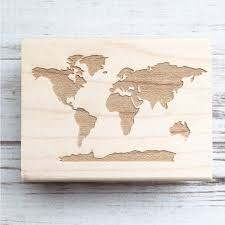 7 Continents Map World Map Stamp 7 Continents Earth Geography Passport Travel