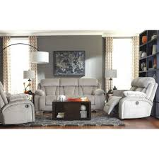 living room transitional style ashley furniture leather sofa