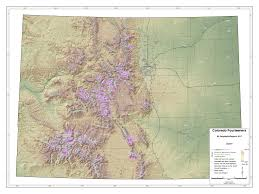 County Map Of Colorado Map Of Mountain Ranges And Peaks Over 14 000 Ft In Colorado Oc
