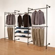 Galvanized Pipe Shelving by Best 25 Pipe Closet Ideas On Pinterest Industrial Closet