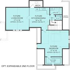 Expandable Floor Plans 3 Bedrm 1999 Sq Ft Craftsman House Plan 106 1313