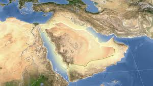 arabia map glide the satellite map of saudi arabia outlined motion