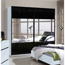 chambre a coucher blanc laque brillant armoire garde robe saragossa avec deux portes coulissantes blanche
