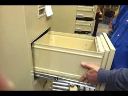Alpha Steel Filing Cabinet Drawer Removal And Installation Youtube