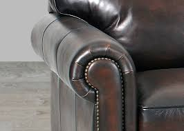 Leather Blend Sofa Stetson Coffee Leather Hillsboro Sofa In World Finish