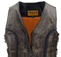 ladies motorcycle leathers ladies motorcycle distressed leather vest braided vest side laces