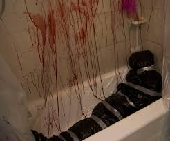 How To Make Scary Halloween Decorations At Home Murder Scene Halloween Decor Fake Blood Halloween Parties And