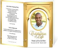 Funeral Program Covers Funeral Obituary Template