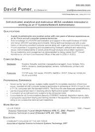 Resume Examples Computer Skills by Army Resume Example Sample Military Resumes