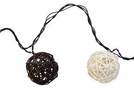Rattan Star String Lights by Moonrays 91131 Solar Powered Led Rattan Globe String Lights