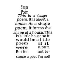 pattern poem definition exles of shape poems