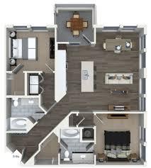 2 bedroom 2 bathroom floorplan at 555 ross avenue apartments in