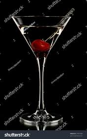 martini black martini glass cherry isolated on black stock photo 27357028