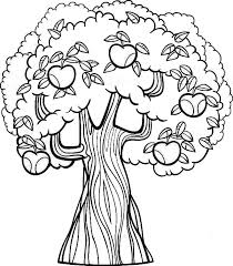 Apple Tree Coloring Pages Printable Coloringstar Tree Coloring Pages