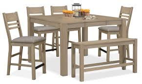 tribeca counter height table 4 side chairs and bench gray tribeca counter height table 4 side chairs and bench gray
