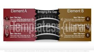 powerpoint gap analysis illustration template professional