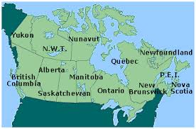map of the provinces of canada canada province map