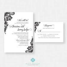 wedding invitations with rsvp cards included vintage lace wedding invitation rsvp card included printable