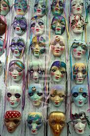 porcelain mardi gras masks louisiana new orleans quarter bourbon mardi gras