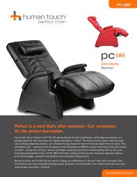 Human Touch Perfect Chair Perfect Chair Recliners Pc 085 Perfect Chair Transitional Zero