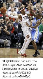 Allen Iverson Meme - rt battle of the little guys allen iverson vs earl boykins in 2003