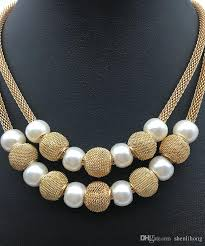 beads necklace designs images 2018 bead on chain beaded necklace designs mesh chain pearl and jpg