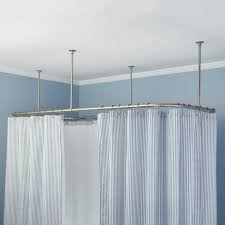 trax l shaped shower rod ceiling mounted track traditional with