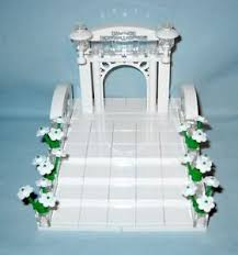 Wedding Arches Ebay Custom Lego Wedding Arch U0026 Stairs Cake Topper For Bride And Groom