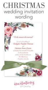 christmas wedding invitation wording invitations by dawn