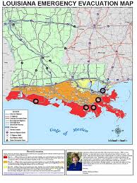 louisiana map areas official evacuation route map for the state of louisiana black