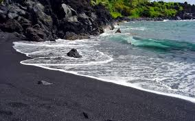 hawaii black sand beach wallpaper