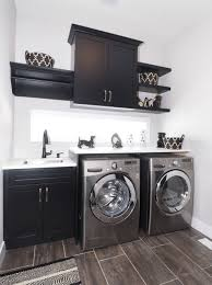 laundry room with black faucet and cabinets selecting faucets