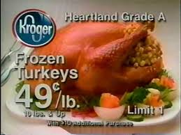 kroger ad happy thanksgiving 1997