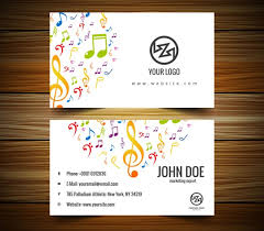 free music business card templates 20 music business cards free