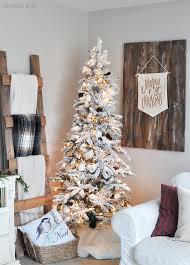 flocked white tree cherished bliss