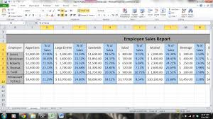 Microsoft Excel Report Templates Server Sales Performance Report And Analysis Microsoft Excel 2010