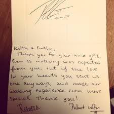 wedding gift thank you notes rgiii sent fan a wedding gift thank you note fox13now