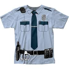 Halloween Costume Shirts Amazon Com Impact Originals Police Cop Uniform Costume Tee Clothing