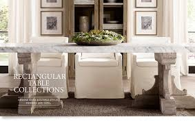 Restoration Hardware Dining Room Rectangular Table Collections Dining Rooms Pinterest Room